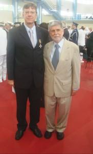 Dr. Martinho e o Ministro da Defesa, Celso Amorim.